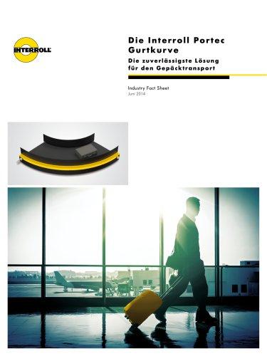 Die Interroll Portec Gurtkurve: Die zuverlässigste Lösung für den Gepäcktransport
