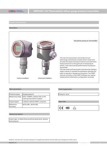 DMP305X-TLF gauge pressure sensor