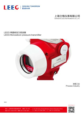 LEEG DMP305X Industrial pressure transmitter for petrochemical industry