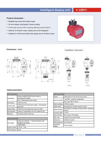 LEEG LCD display Indicator for pressure transmitter