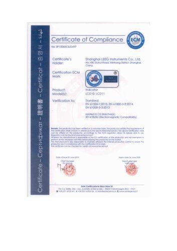 Loop Power LCD Indicator CE Certificate