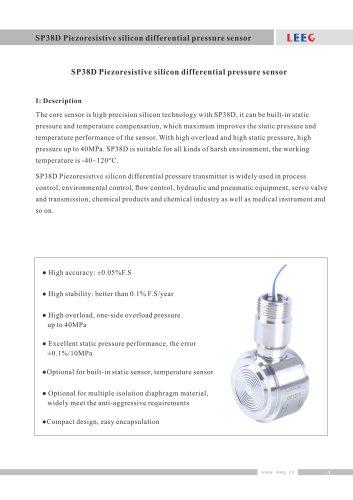 Monocrystalline silicon sensor SP38D