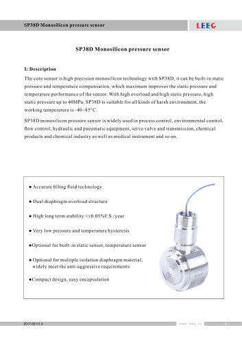 SP38D differential pressure sensor