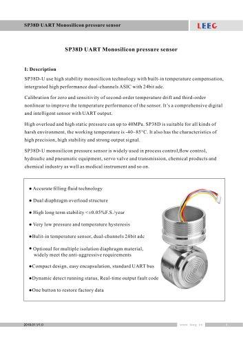 SP38D UART Monosilicon pressure sensor