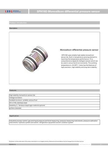 SPH19D Differential pressure sensor