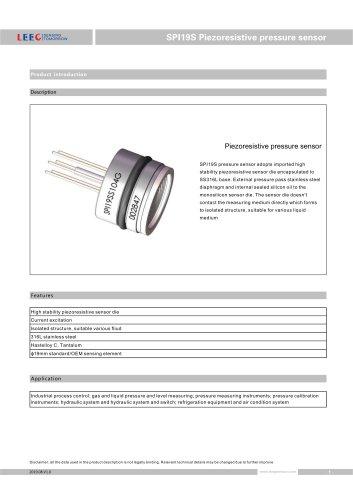 SPI19S Pressure sensor