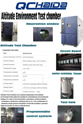 Altitude Environment Test Chamberaeronautics, aerospace, communications