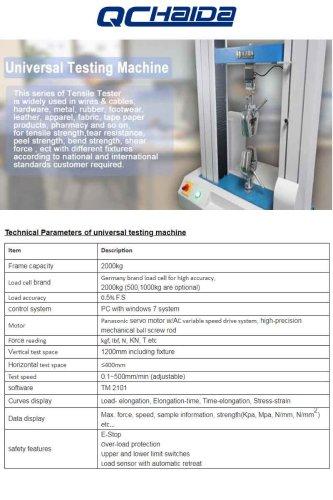 Computer Control Tensile Test Machine