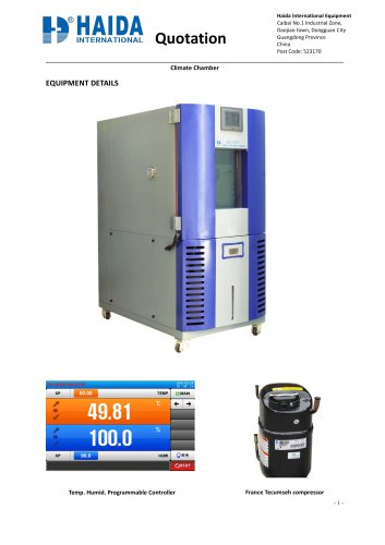 Constant temperature and humidity testing machine