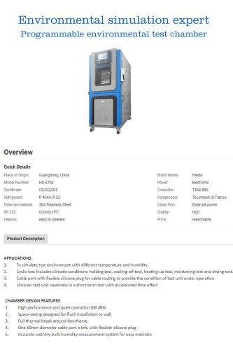 Programmable environmental test chamber