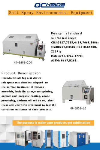 Salt Spray Environmental Equipment