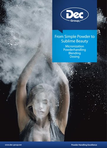 Cosmetics - Micronization, Transferring, Blending, Dosing