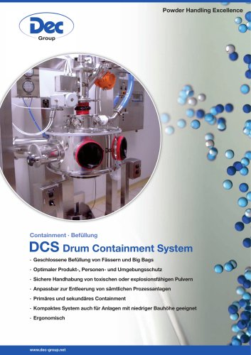 DCS Drum Containment System Befüllung