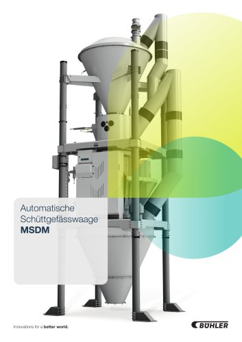 Automatische Schüttgefässwaage MSDM