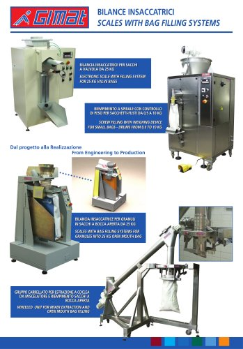 SCALES WITH BAG FILLING SYSTEMS