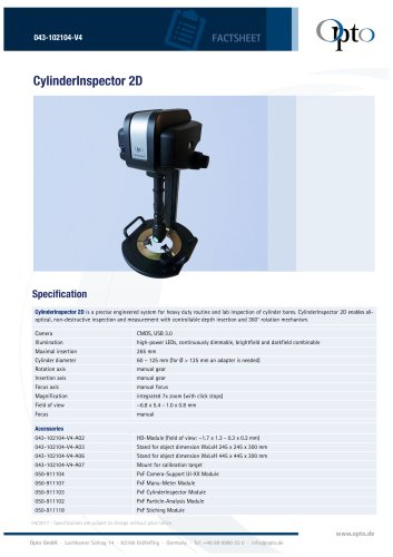 CylinderInspector 2D