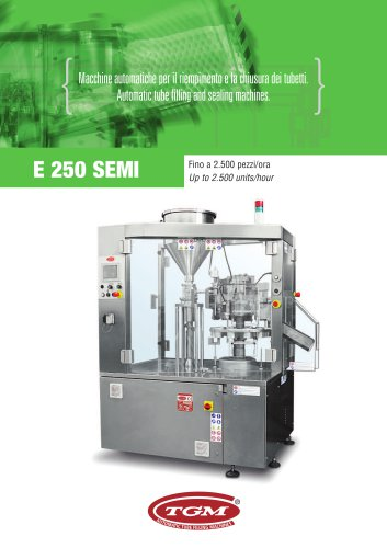TUBE FILLING MACHINE E250 SEMI