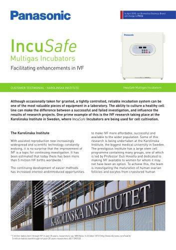 IncuSafe Incubators Customer Testimonial - IVF, The Karolinska Institute