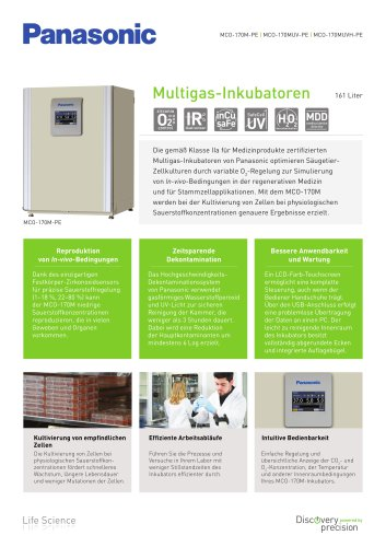 MCO-170M IncuSafe Multigas-Inkubatoren