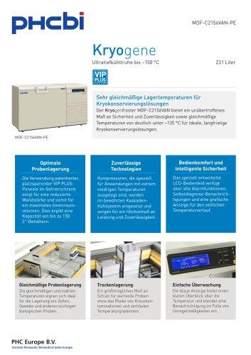 MDF-C2156VAN-PE Ultratiefkühltruhe bis –150 °C