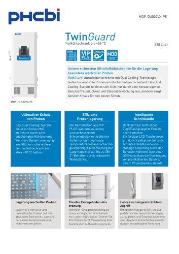 MDF-DU502VX-PE Tiefkühlschrank bis –86 °C