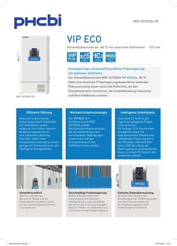 MDF-DU702VH-PE Ultratiefkühlschrank bis –86 °C mit natürlichen Kühlmitteln