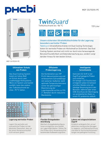 MDF-DU702VX-PE Tiefkühlschrank bis –86 °C
