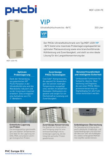 MDF-U33V-PE Ultratiefkühlschrank bis –86°C