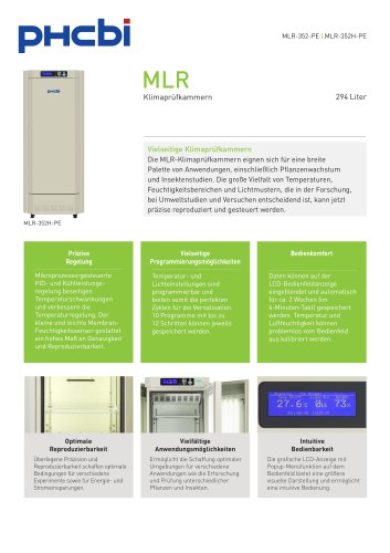 MLR-352-PE Klimaprüfkammern