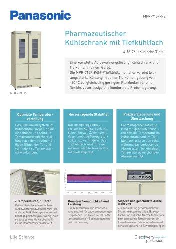 MPR-715F Pharmazeutischer Kühlschrank mit Tiefkühlfach