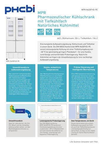 MPR-N450FH-PE Pharmazeutischer Kühlschrank mit Tiefkühlfach
