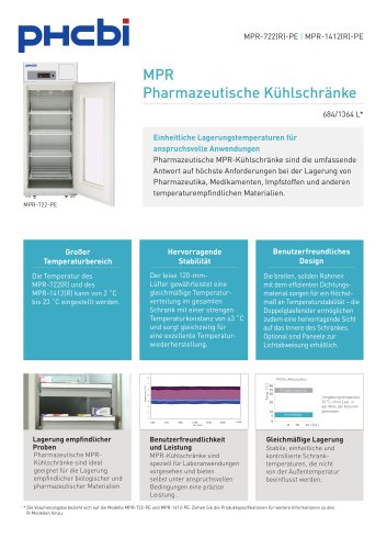 MPR Pharmazeutische Kühlschränke