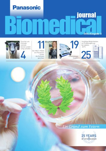Panasonic Biomedical Journal 2015 German