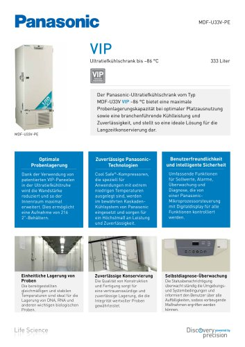 VIP Ultratiefkühlschrank bis –86 °C MDF-U33V