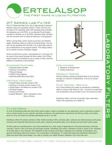 21T Lab Filter Tech Sheet