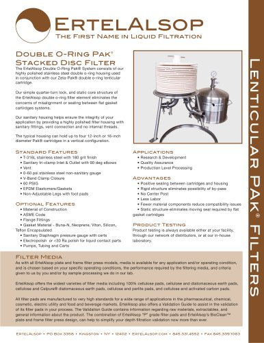 Double O-Ring Pak® System