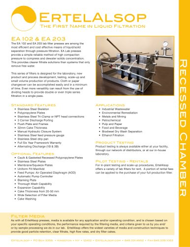 EA 102 & EA 203 Tech Sheet