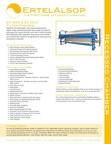 EA 1200 & EA 1500 Tech Sheet