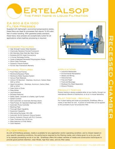 EA 800 & EA 1000 Tech Sheet