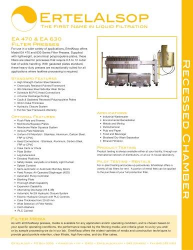 EA470 & EA630 Tech Sheet