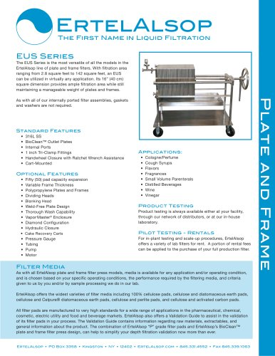 EUS Plate and Frame Filter