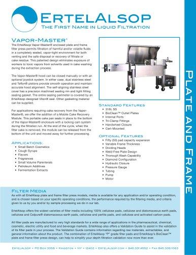 Vapor Master Plate Frame Filter