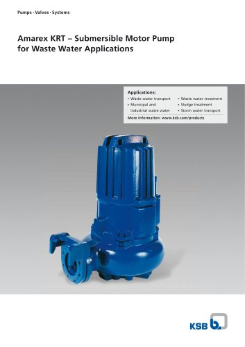 Amarex KRT, Submersible Motor Pump