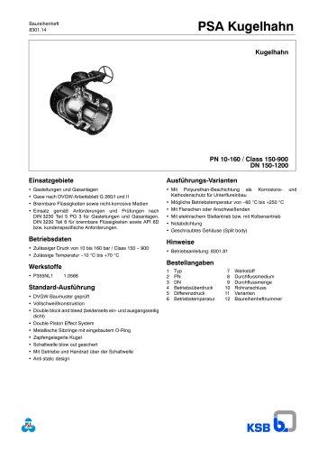 Ball Valve KHG DN 150-1200