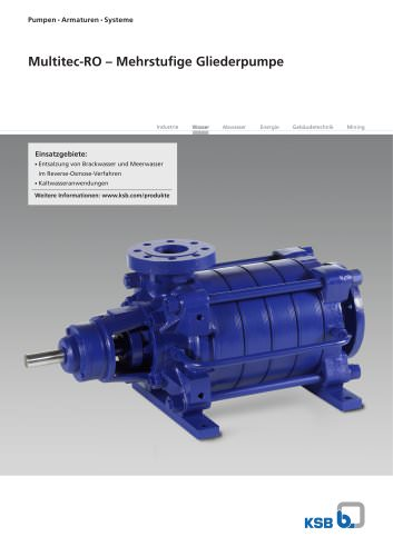 Hochdruckpumpe in Gliederbauweise für SWRO Anwendungen
