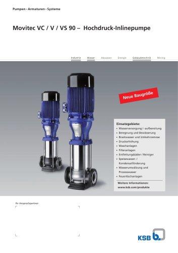 Movitec VC / V / VS 90 – Hochdruck-Inlinepumpe
