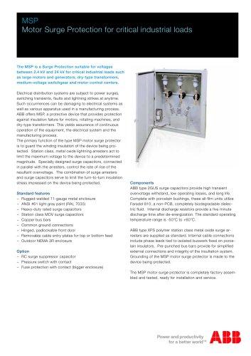ABB Motor Surge protection Units - MSP