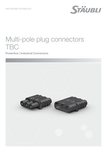 Multi-pole plug connectors