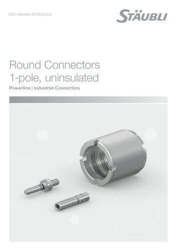 Round Connectors 1-pole, uninsulated