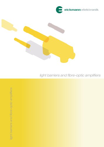 light barriers and fibre-optic amplifiers